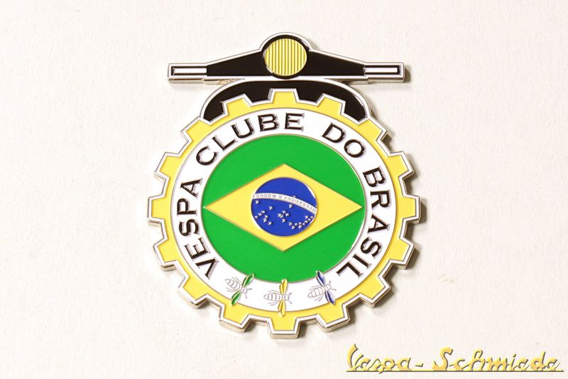 vespa metall plakette vespa clube do brasil club. Black Bedroom Furniture Sets. Home Design Ideas
