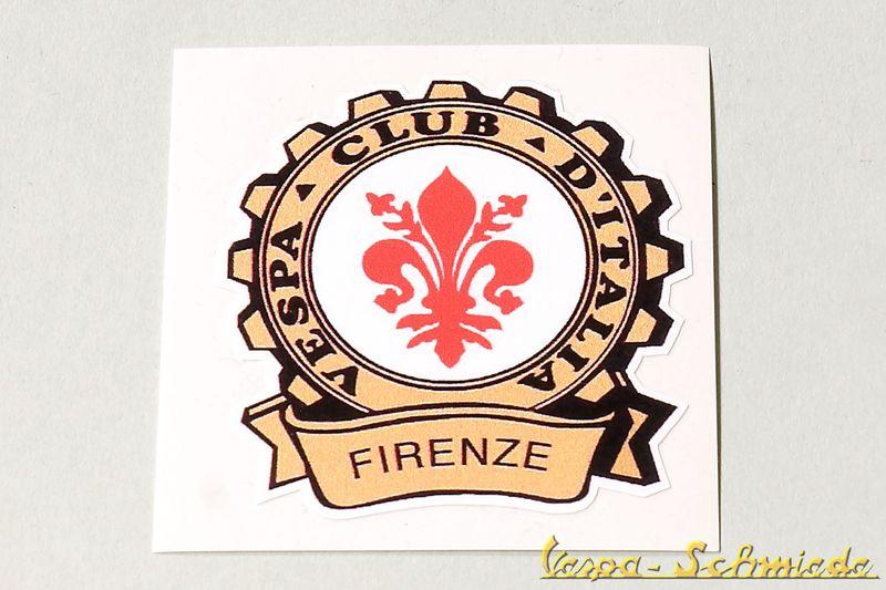 Autocollants d coratifs vespa club firenze florence italie - 0177 numero telephone ...