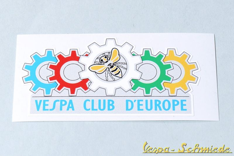 "Aufkleber ""Vespa Club d'Europe"""