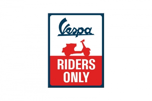 "Magnet ""Vespa Riders Only"""