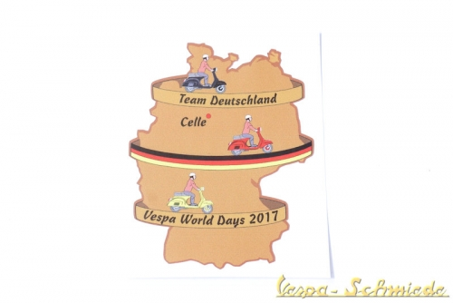 "Aufkleber ""Vespa World Days 2017"""