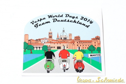 "Aufkleber ""Vespa World Days 2014"""