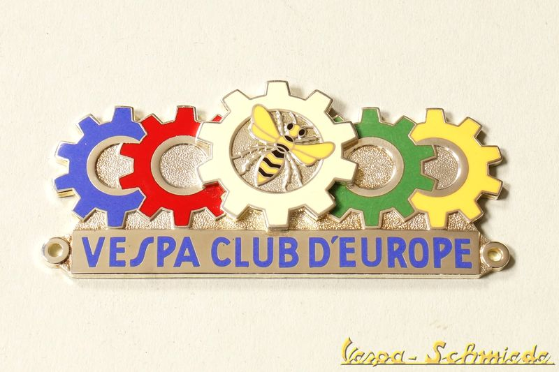 vespa metall plakette vespa club d 39 europe klub europa. Black Bedroom Furniture Sets. Home Design Ideas
