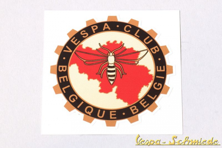 "Aufkleber ""Vespa Club Belgique Belgie"" - Alte Version"