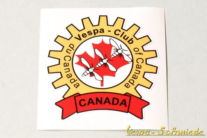 "Aufkleber ""Vespa Club of Canada"""