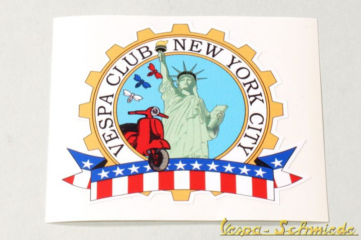 "Aufkleber ""Vespa Club New York"""