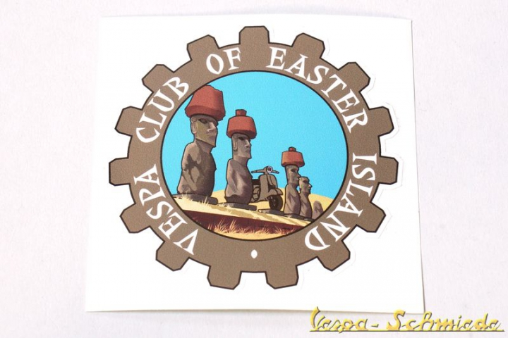 "Aufkleber ""Vespa Club of Easter Island"""